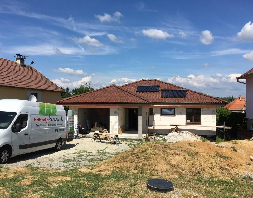 Solarny system na ohrev vody Prasice